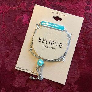 Jewelry - ❤️Believe stainless steel bracelet